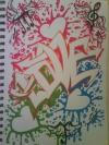 Graffiti  love  by kat peoples